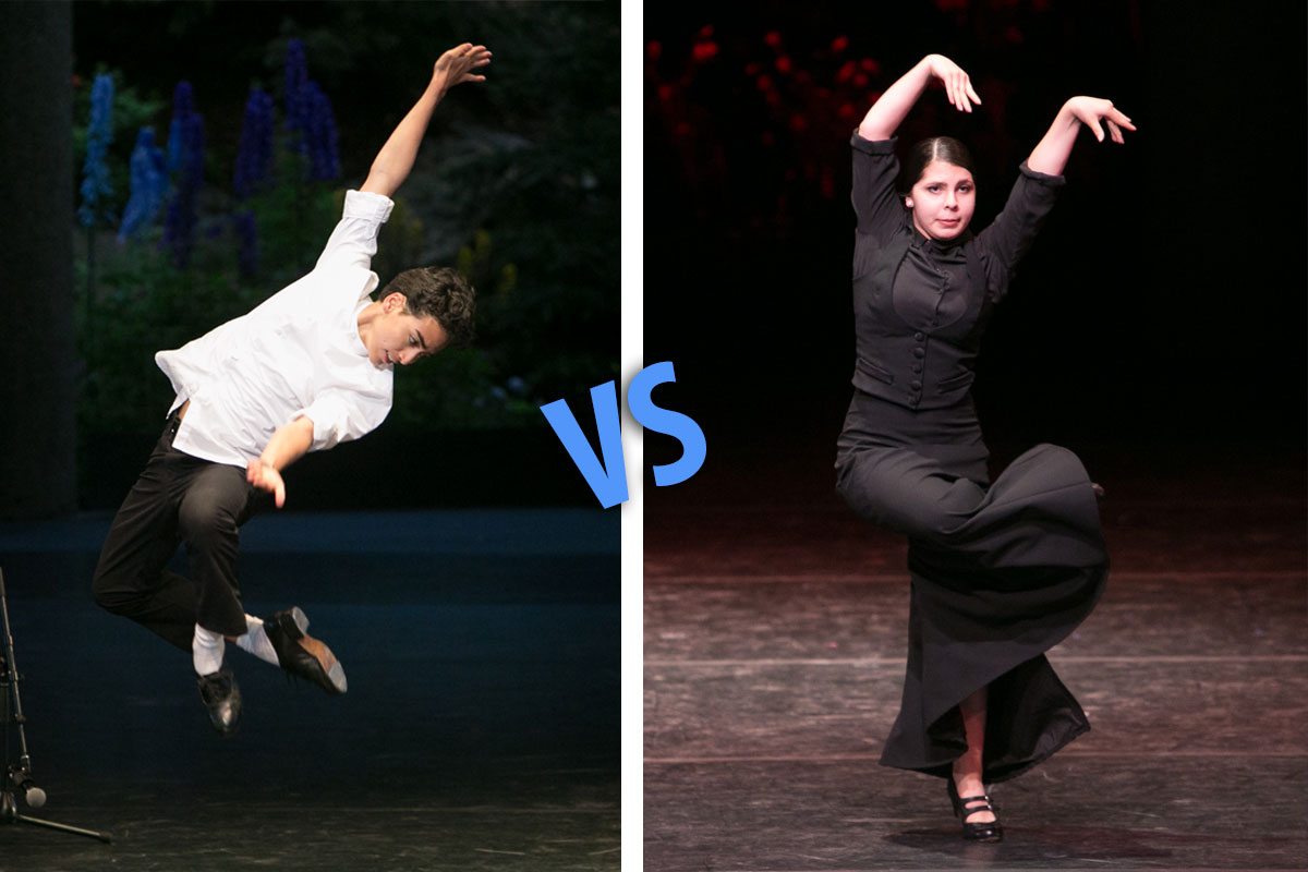 Tap vs Flamenco Battle with Dario Natarelli & Elena Heiss